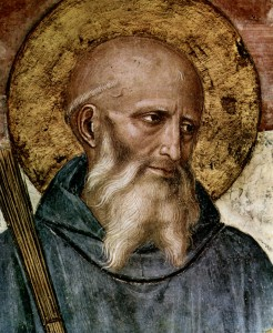 Fra Angelico, St. Benedict of Nursia (detail)