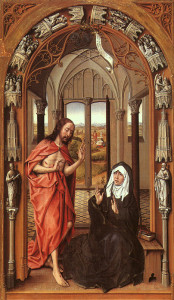 Christ appears to his Mother, Rogier van der  Weyden