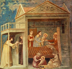 Giotto, Birth of the Virgin